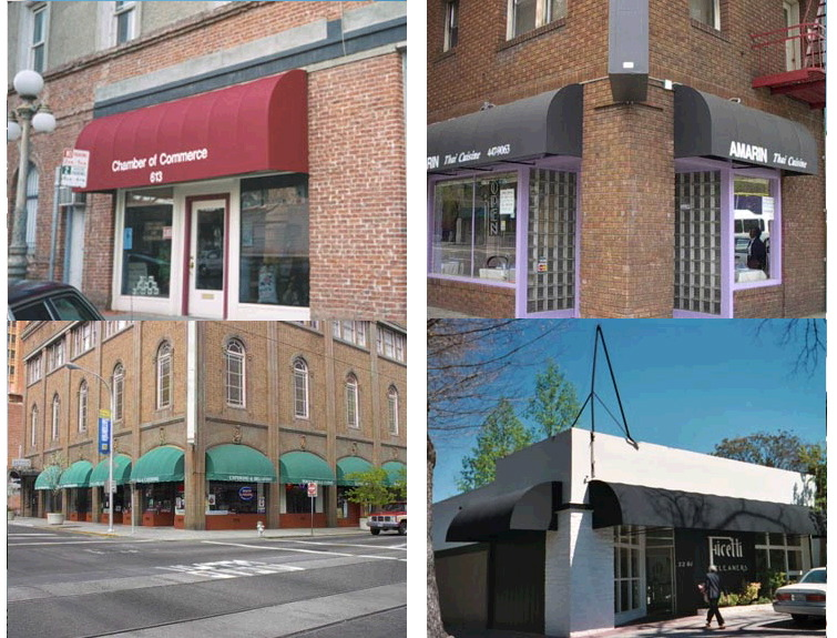 Storefront Curved Awnings Js Canvas Awnings Of Sacramento