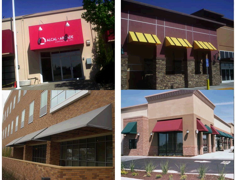 Storefront Standard Awning Js Canvas Awnings Of Sacramento