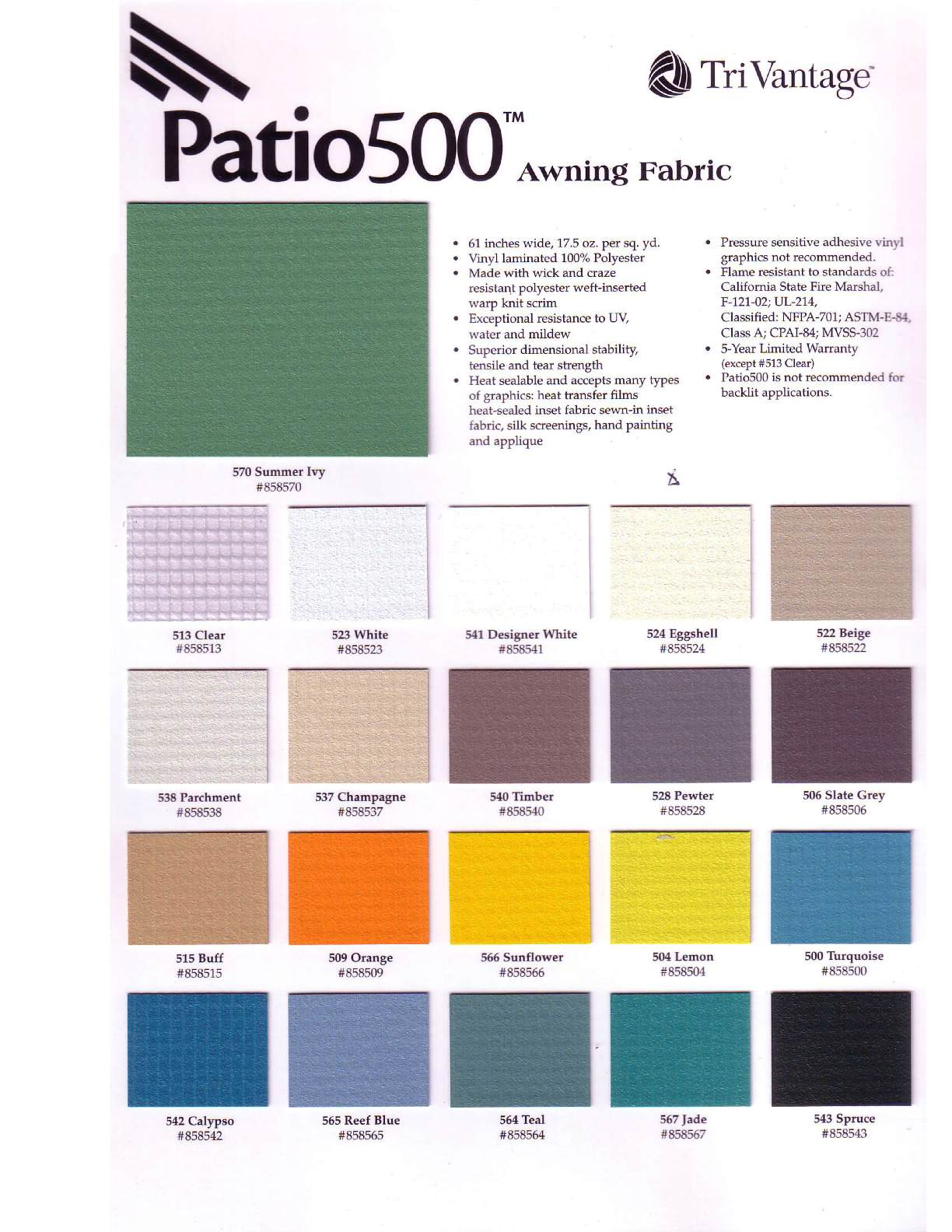 Patio 500 Vinyl Js Canvas Awnings Of Sacramento