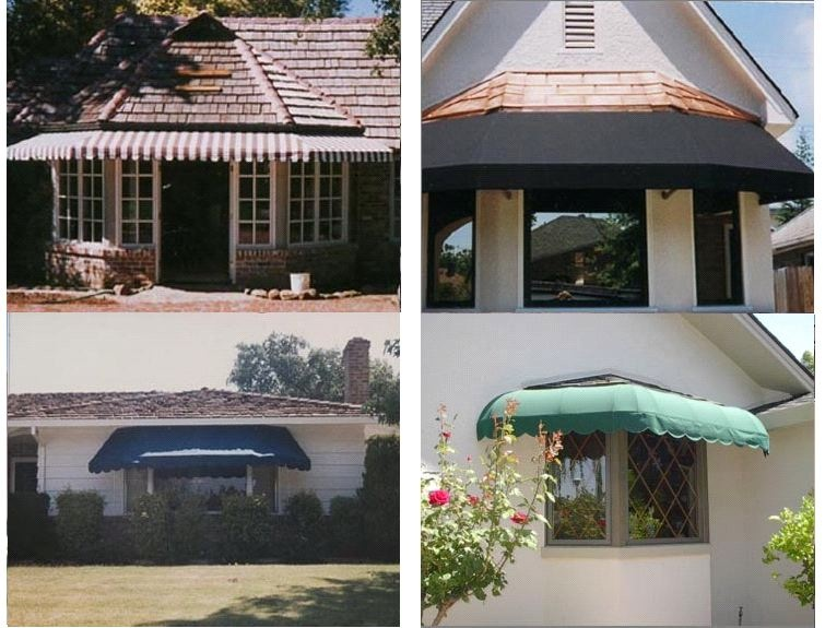 Bay Window Awning Using Sunbrella Fabric. Call ...