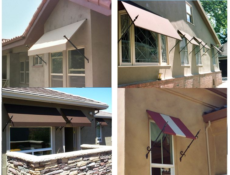 Spear Style Door U0026 Window Awnings Using Sunbrella Fabric. Mediterranean ...