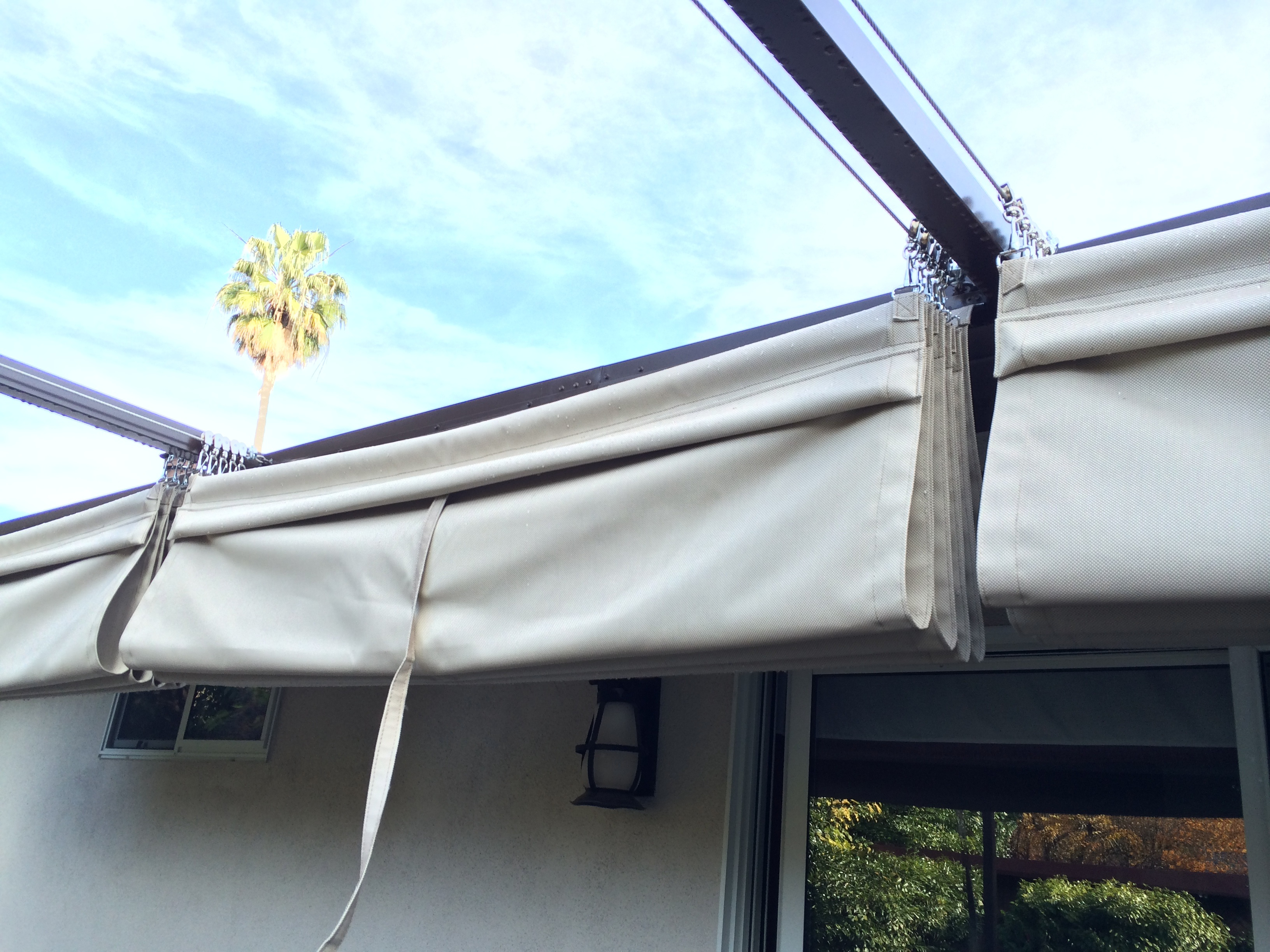 Retractable Cable Structure Js Canvas Awnings Of Sacramento