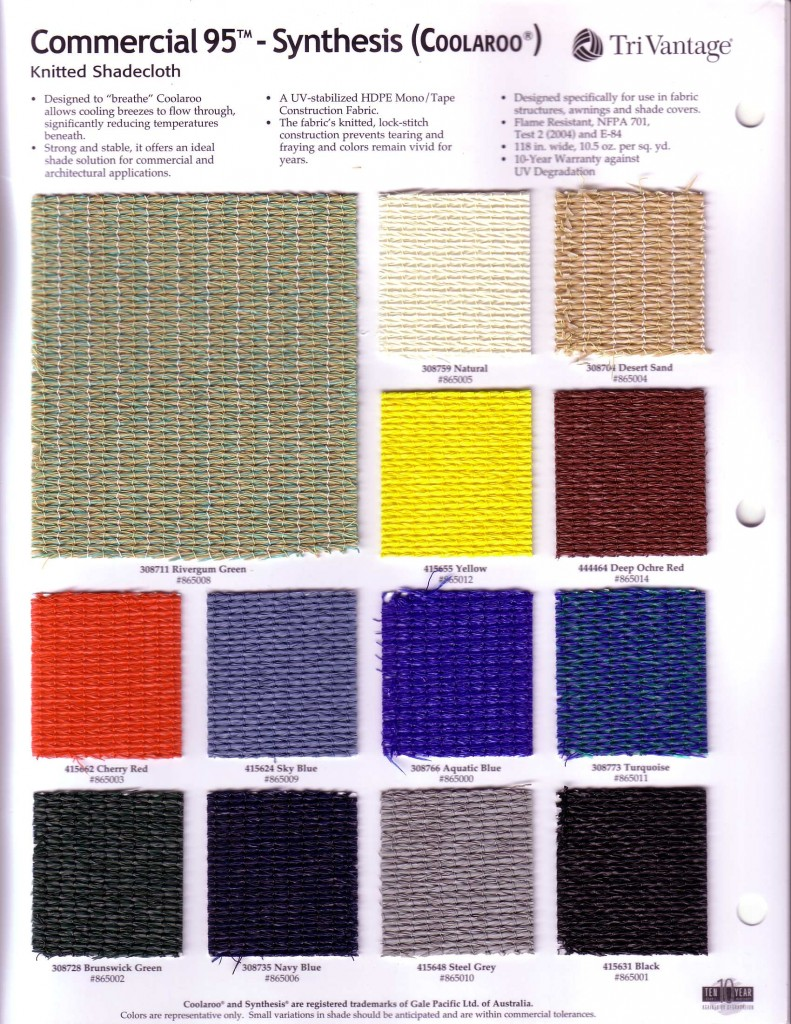 Coolaroo knitted Shade mesh