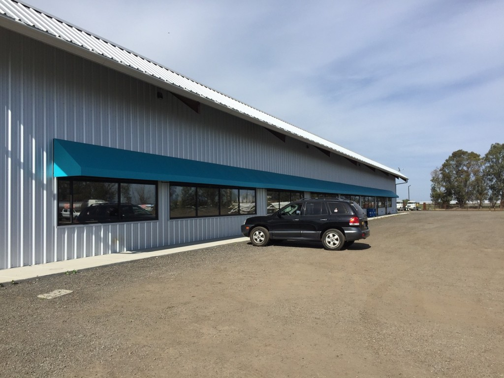 Button Trucking Office Awning