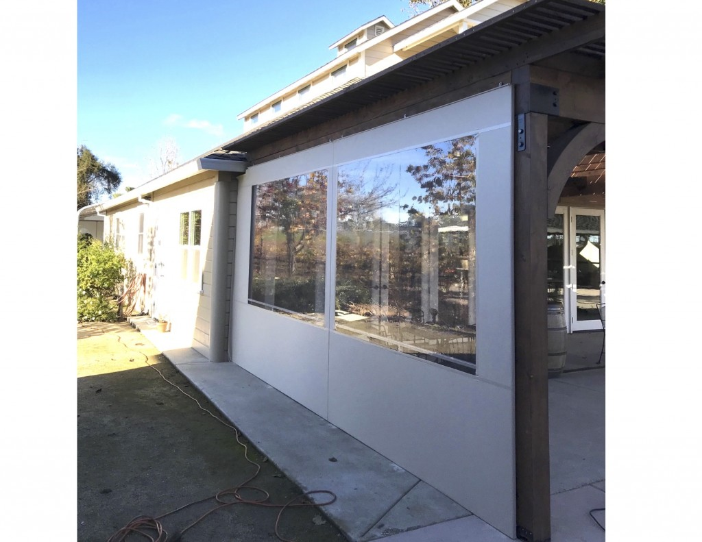 Panel Enclosure using Fire Retardant PVC Glass and Patio 500 Vinyl