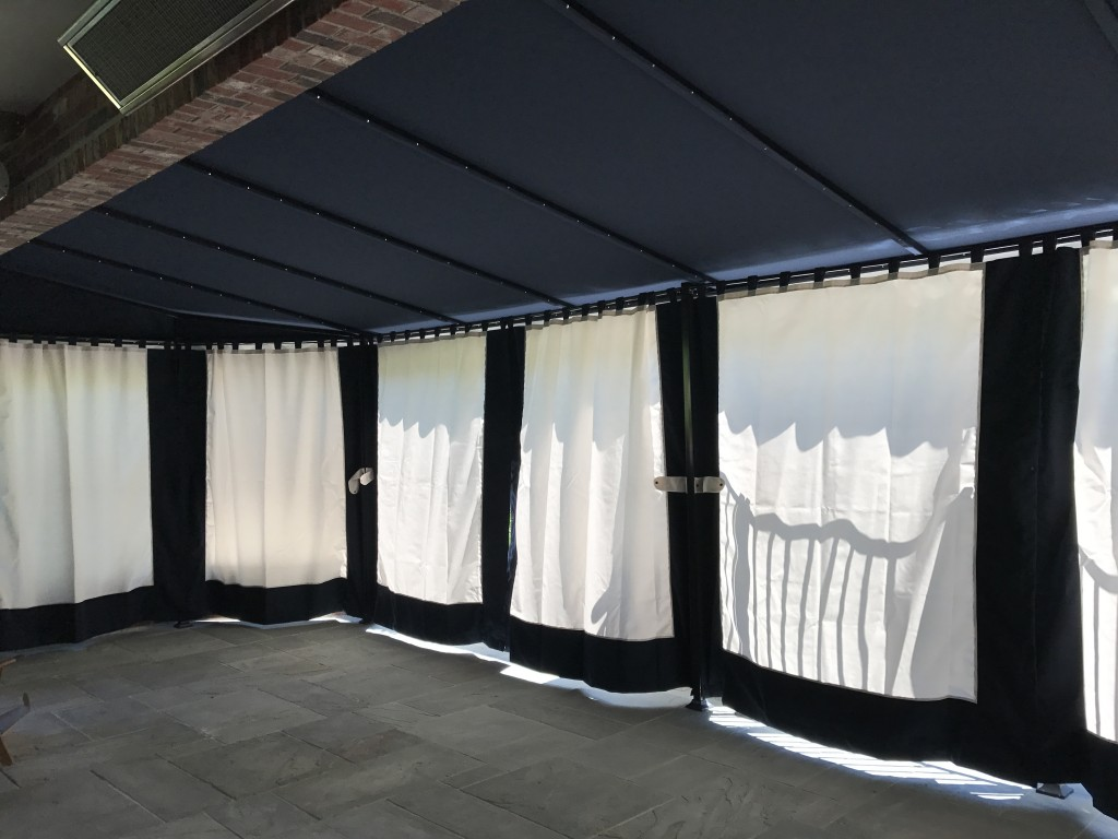 Sunbrella Canopy with closed drapes