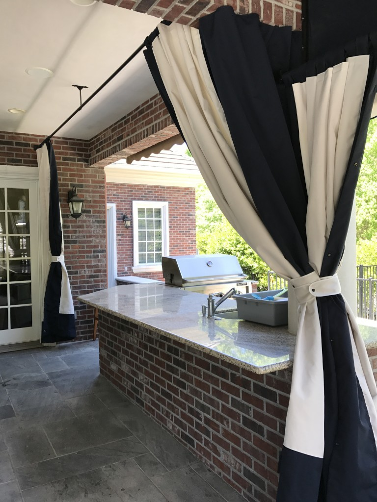 Sunbrella Drapes with border inside view