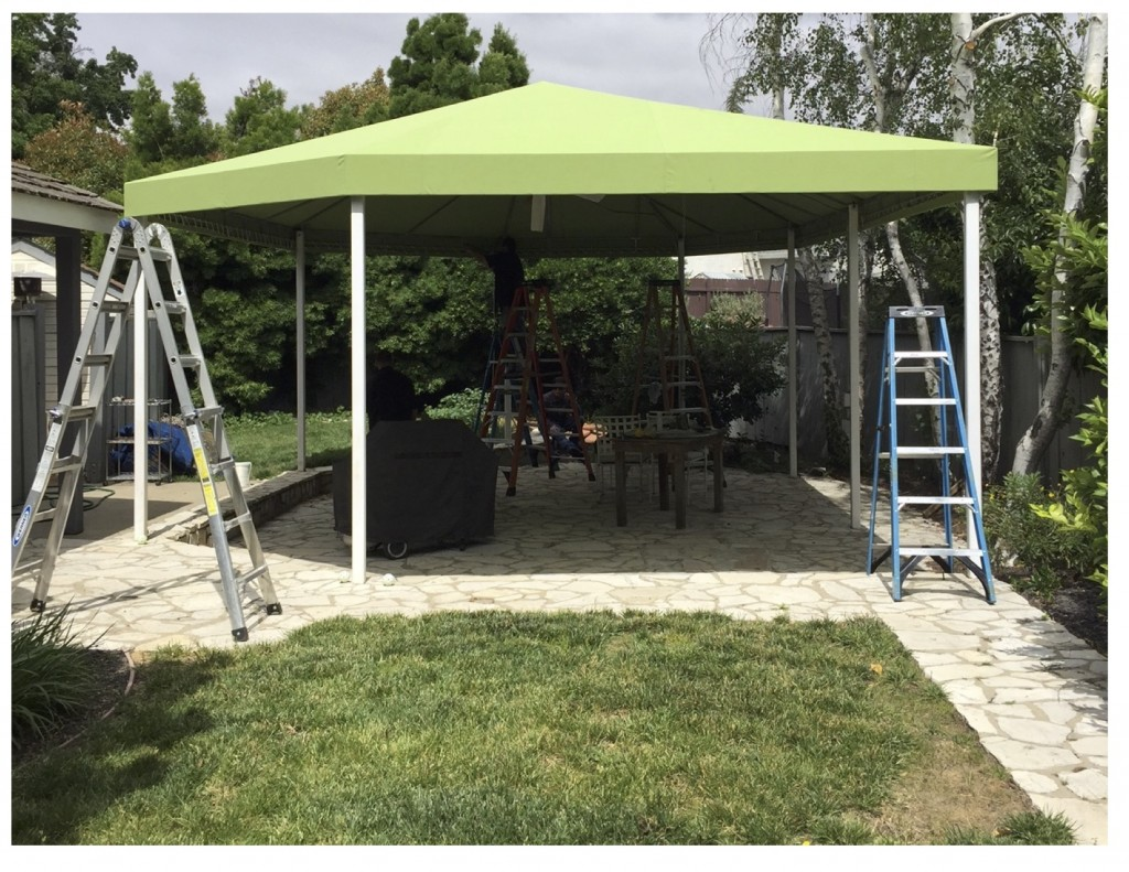 Recover Existing Free Standing Canopy with Sunbrella Fabric