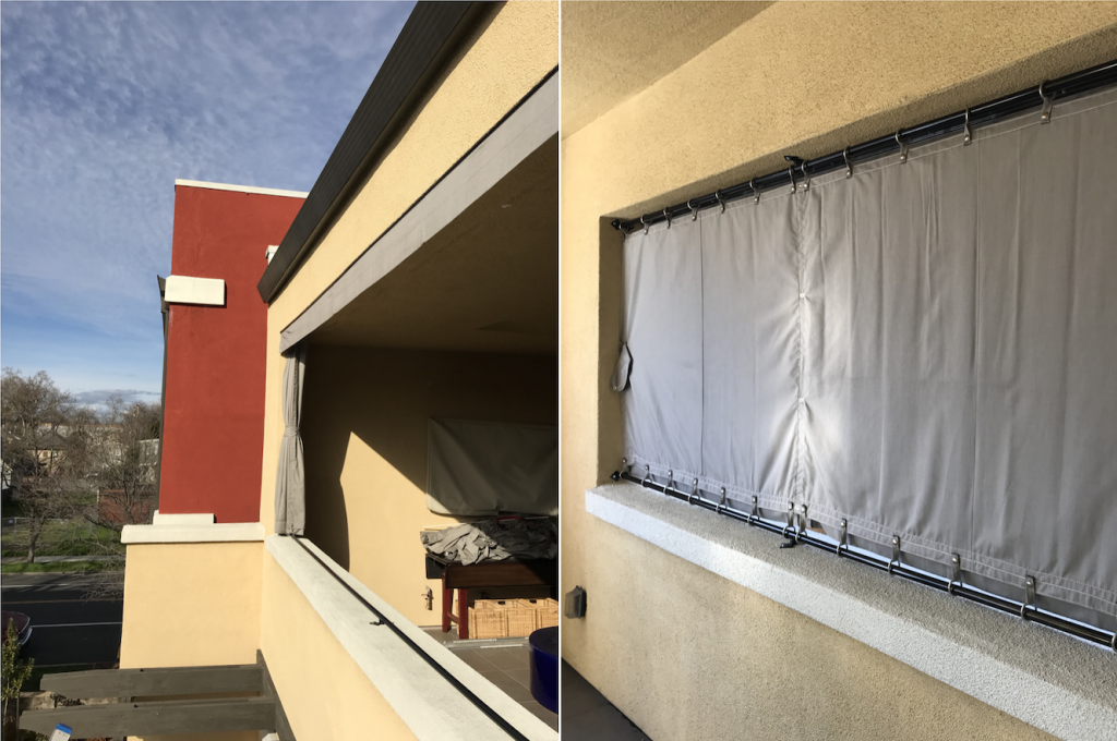 Sunbrella Drapes with Top & Bottom Rod