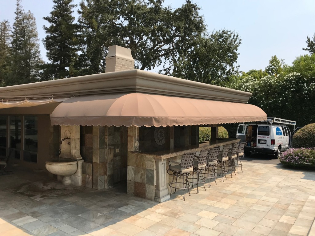 Elongated Domed Patio Awning