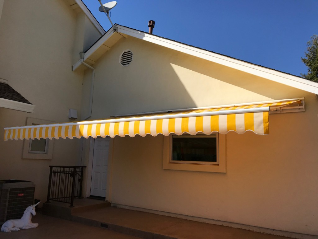Sunbrella Retractable motorized awning