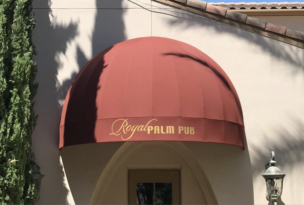 Domed Awning over Restaurant entrance