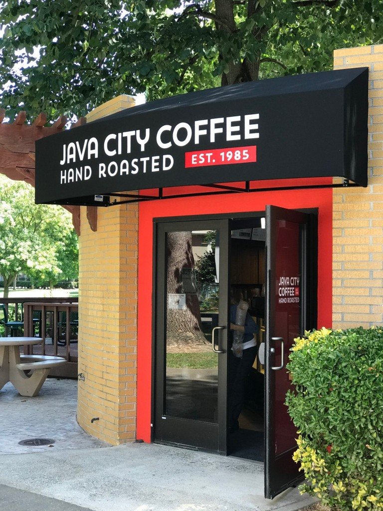 Java City Sac State Recover of existing awning