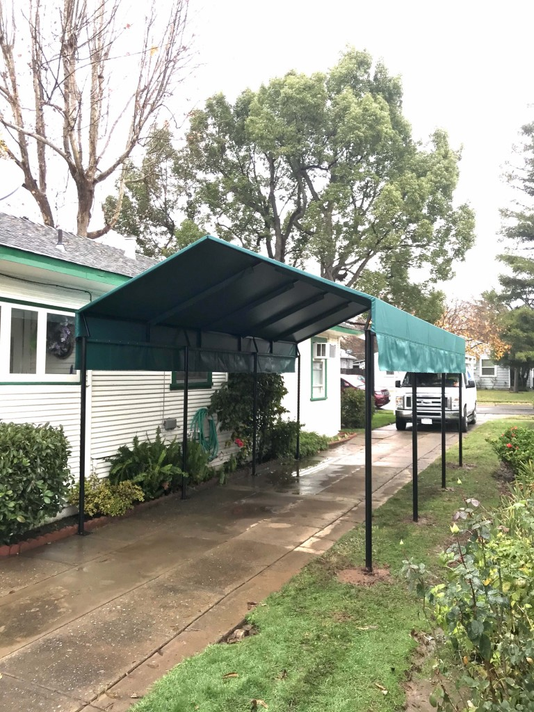Residential Carport Canopy using Steel tube and Patio 500 Vinyl fabric