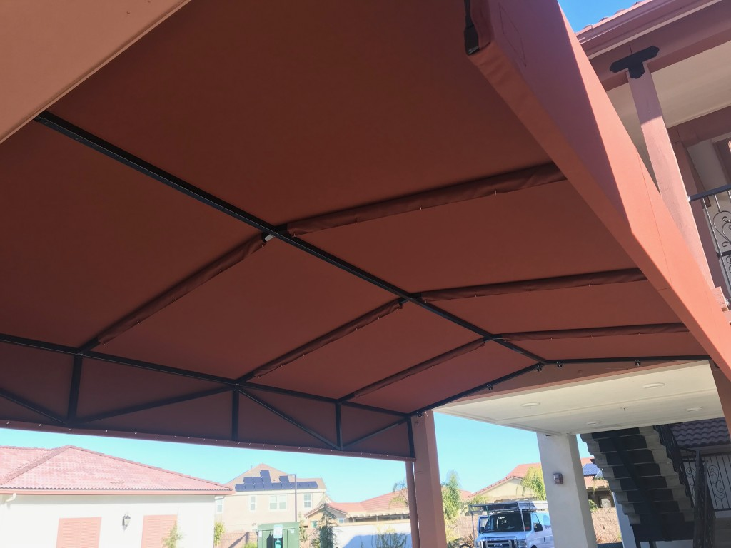 WalkwayCanopy using Firesist fabric