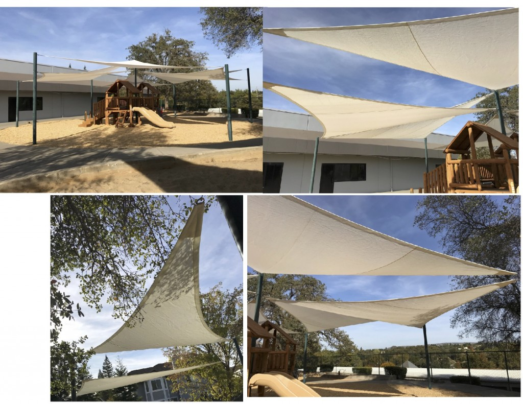 Shade Sails using SafRshade mesh fire retardant