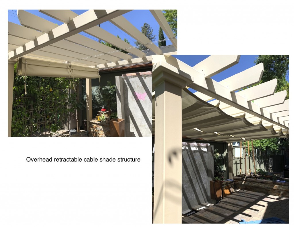 Residential Overhead Retractable Cable Shade Structure