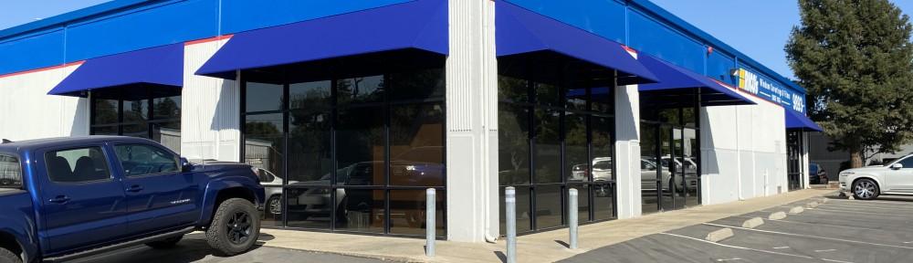Sunbrella Stationary Storefront Canopies