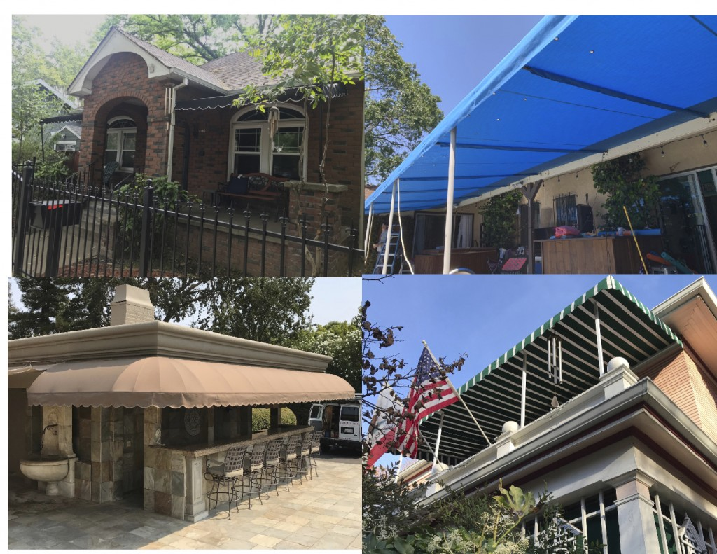 Stationary Residential Sunbrella Canopies
