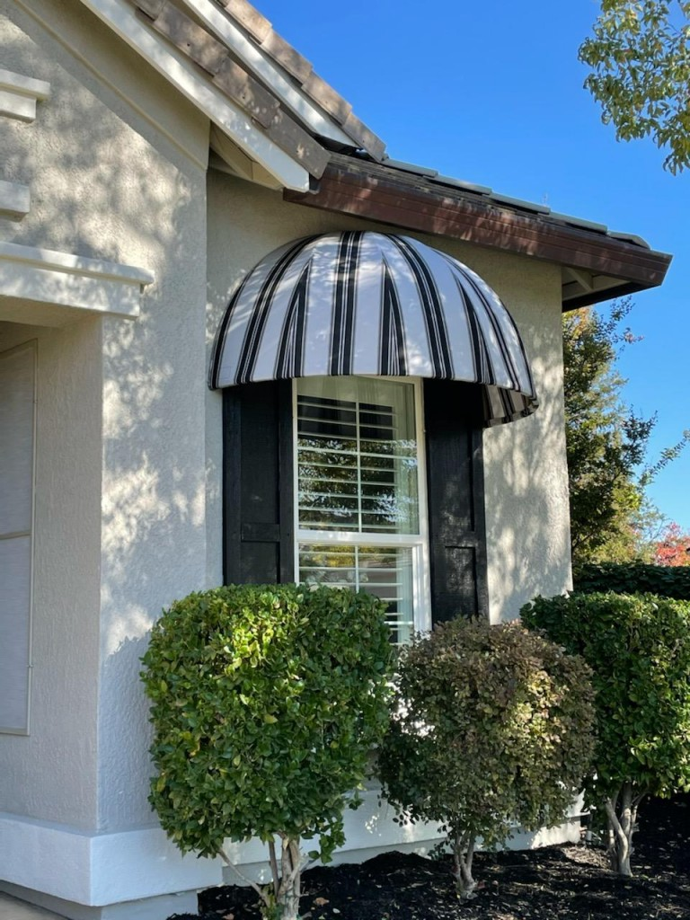 Sunbrella Striped Domed Awning