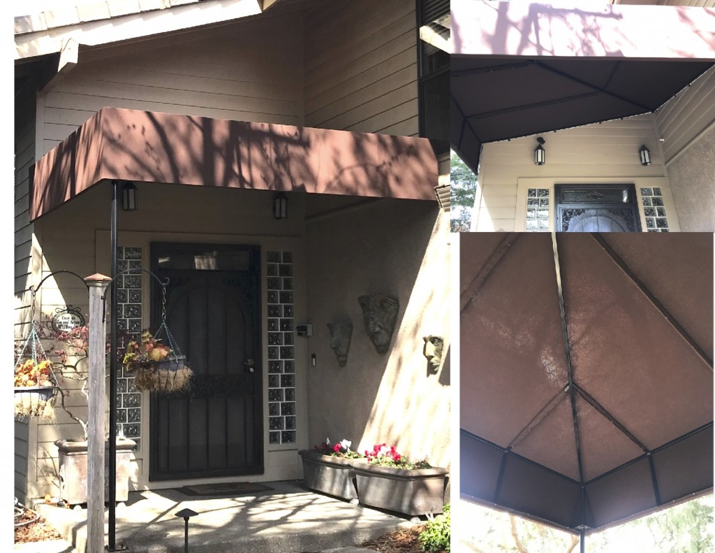 Front Entrance canopy using Sunbrella fabric