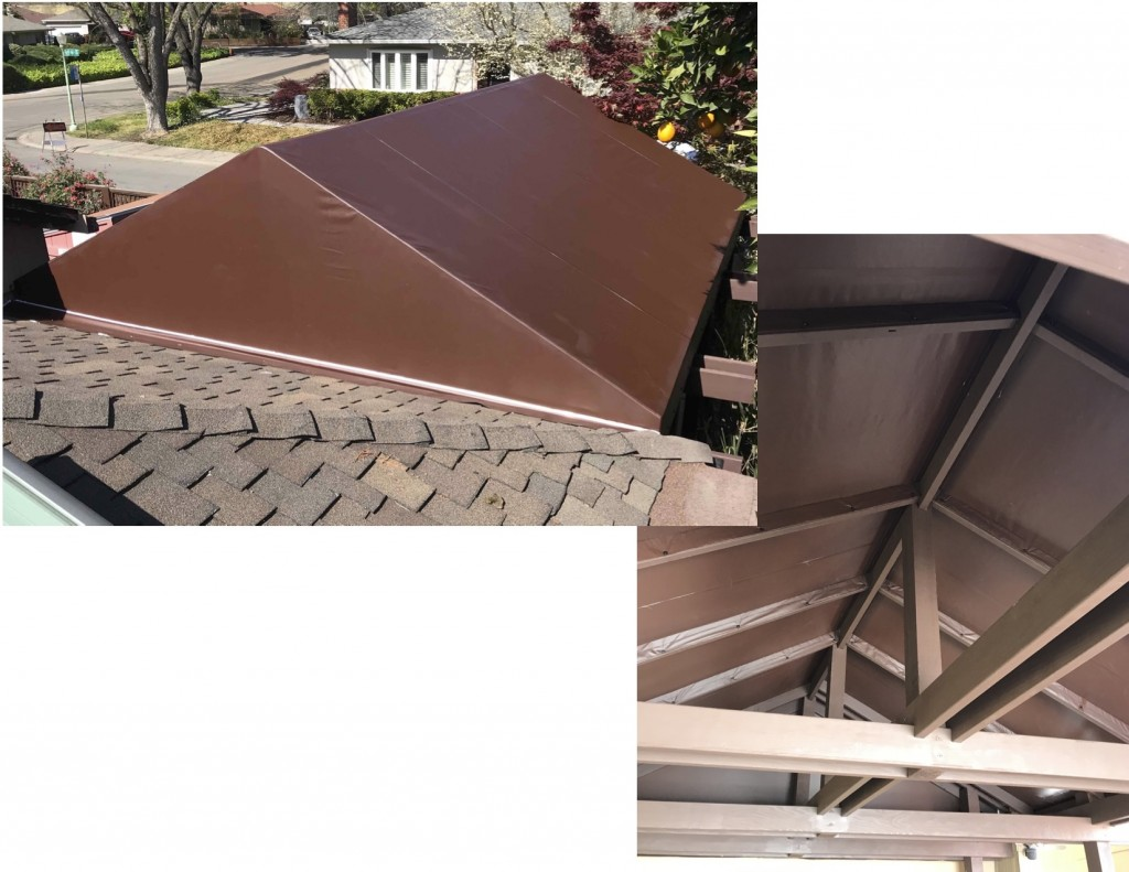 Patio 500 Vinyl canopy over wooden frame